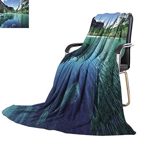 YOYI-home Throw Blanket Mirror Lake in Yosemite Warm Microfiber All Season Blanket for Bed or Couch 50''x30'' by YOYI-home