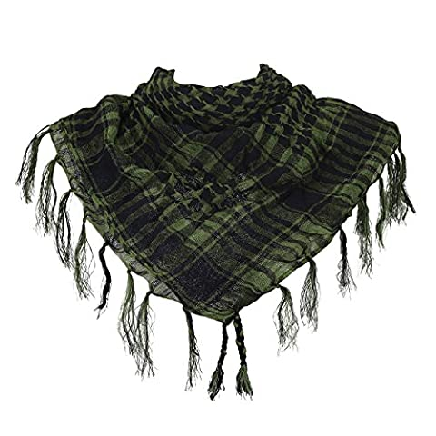 HDE Premium Arab Shemagh Keffiyeh Scarf Fashion Head Neck Wrap (Palestinian Scarf For Men)