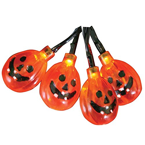 Product Works UltraLED Battery Operated Jack-O-Lantern Cap Twinkle Light String, 8-Feet