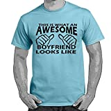 Best Boyfriend Tshirts - Starlite~Mens Funny tshirts-Awesome Boyfriend Looks Like tshirt-SKY-BLK-M Review