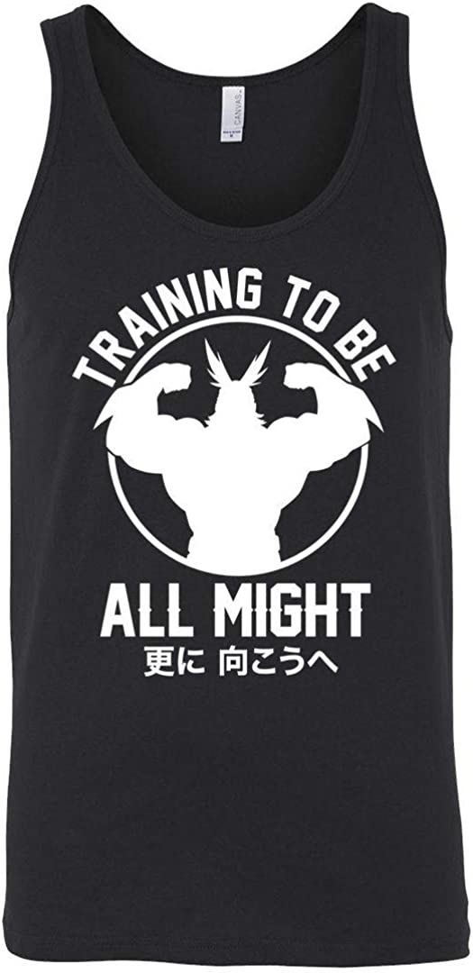 Boku No Training to Be All Might My Hero Academia Inspired Gym Men Unisex Tank Top