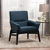 Christopher Knight Home 300667 Lainey Arm Chair, Navy Blue