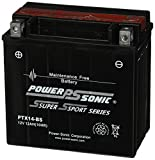 Power-Sonic (PTX14-BS) Sealed Maintenance Free Powersport Battery
