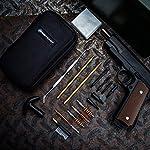BOOSTEADY Kit de Nettoyage Universel pour Pistolet .22.357.38,9mm.45 Calibre Kit de Brosse et Jag 10