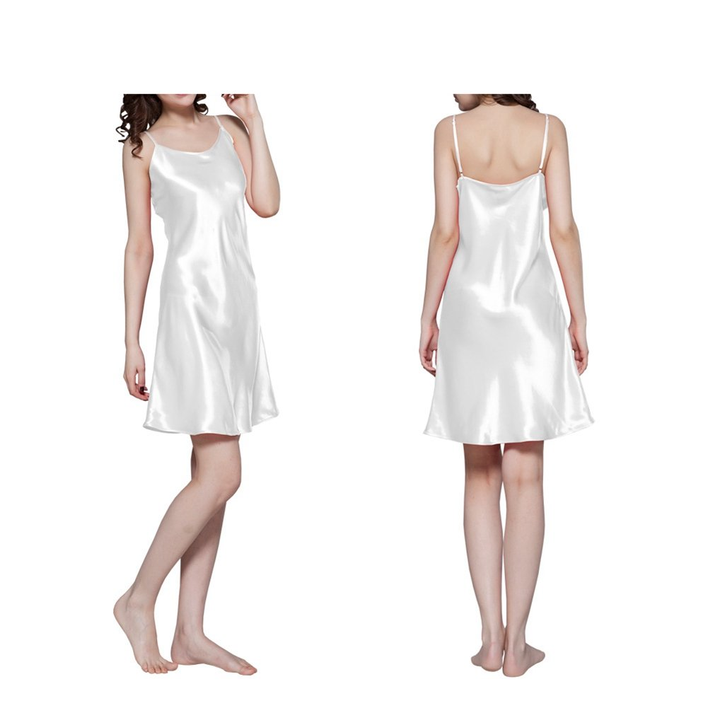 577Loby Women's Mulberry Silk Nightgown Short Chemise 100% Pure Silk