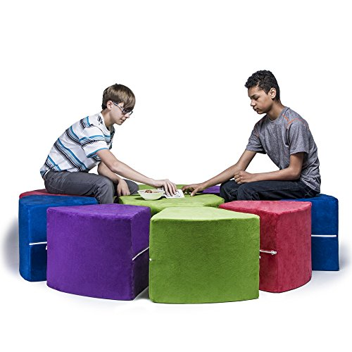 Jaxx Octagon Kids Sectional Seating Arrangement, 9-Piece-Set, Multi-Color