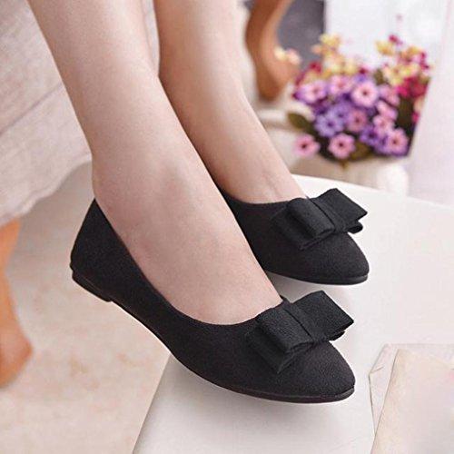 Mo de Zapatillas Negro Confortables Zapatos Bota Planos Bailarinas Corbata Mujer Calzado o de Amlaiworld Baratas con Sandalias Mujer Zapatos Trabajo Alpargatas 14CqfPPw