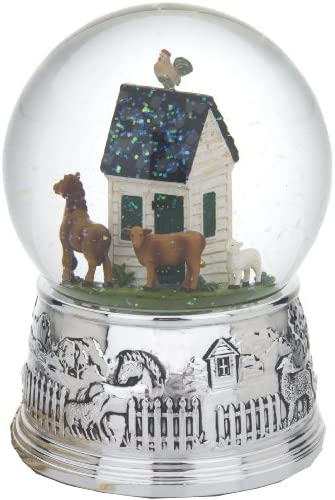 Reed Barton Williamsburg Farmyard Friends Silver Plate Music Globe