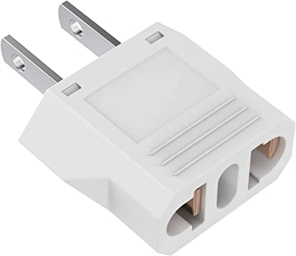 Unidapt European to American Outlet Plug Adapter US Plug Adapter EU to US Adapter 2-Pack Europe//Asia to USA//Canada Travel Power Plug Adapter Type A Small European to US Plug Adapter