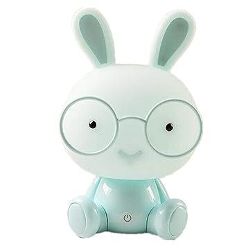 BIBIQ LED Conejo Luz De Noche Lámparas Protección para Los Ojos Emergencia  Contacto Decoración Cuarto, Bebé Cabecera Atmósfera Iluminación,Blue
