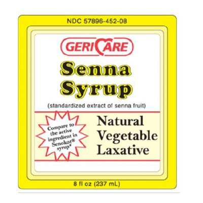 MCK84482700 - Geri-care Laxative Senna Syrup Liquid 8.8 mg Strength Sennosides