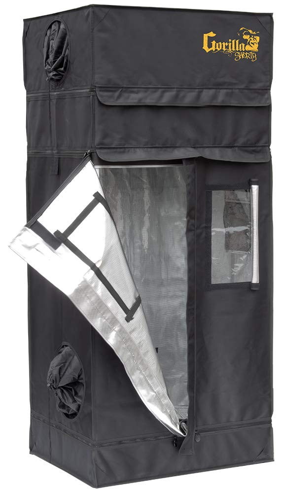 Gorilla SHORTY Indoor 2x2.5 Grow Tent w/ Free 9″ Height Extension Kit