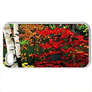 Autumn branches - Case Cover for iPhone 4 and 4s (Forests Series, Watercolor style, White)