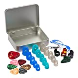#8: COCODE Silicone Guitar Finger Protectors, Guitar Picks, Thumb & Finger Picks, Pick Holder, Music Page Clip and Organizer Box Useful for Acoustic Guitar Starter and Strings Instrument, Totally 28 Packs
