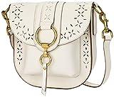 FRYE Ilana Perf Saddle Crossbody Bag, White