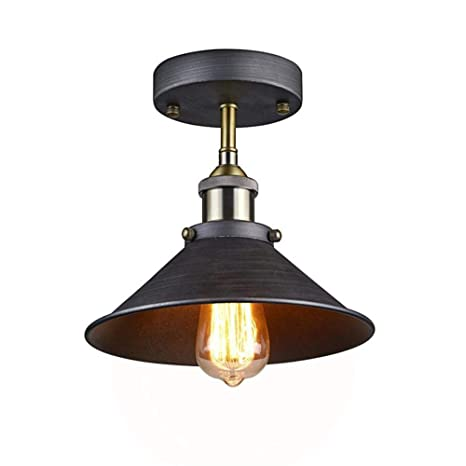 1 Black Ceiling Lights Metal Lamp Shades Industrial Pendant Light Ceiling Lighting Shade 26cm Diameter (