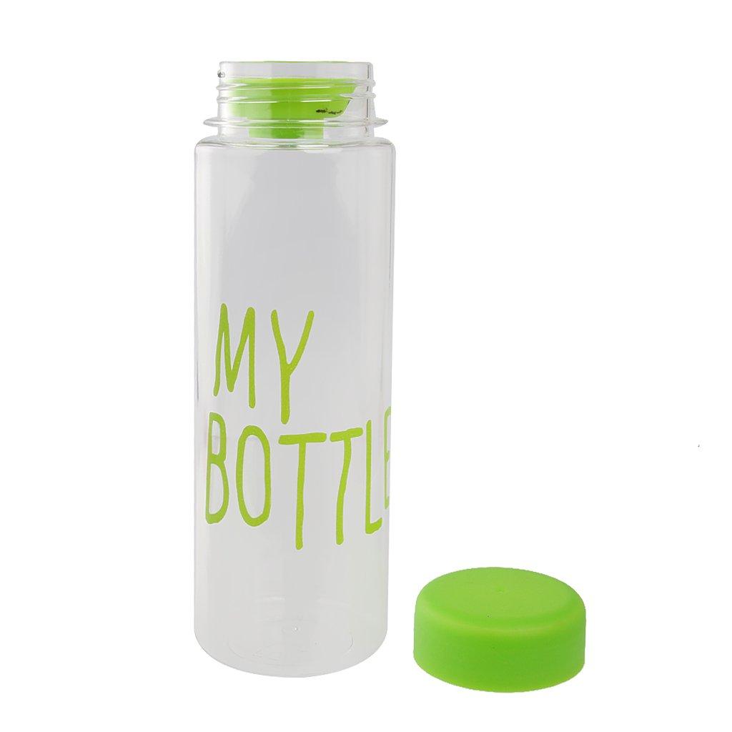 MagiDeal 500 ML Botella De Agua Reutilizable Taza De Leche Fruta Mano Botella De Pl/ástico