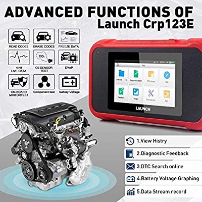 LAUNCH OBD2 Scanner CRP123E Engine ABS SRS Transmission Scan Tool 5