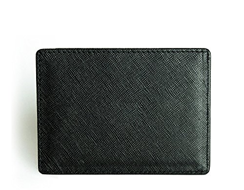 Saffiano minimalist wallet pocket leather from men's Axess RFID wallet front RqRwFr8p