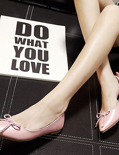 negro Casual uk3 eu36 cn35 PDX rosa piel de Flats 5 us5 sintética mujer Punta de talón pink Toe plataforma plano zapatos 5 On71qHrO