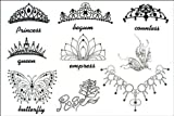 2012 latest new design hot selling Men and women waterproof temporary tattoo female Crown tattoo stickers by YM-K