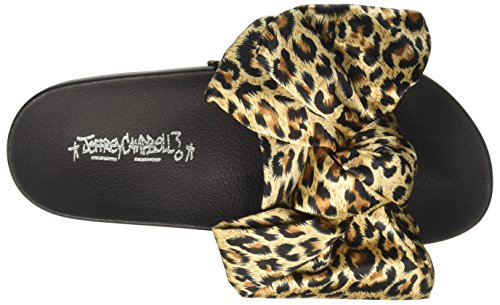 Donna Yellow jova fabric Infradito 11 001 Leopard Bow Multicolore Campbell Jeffrey BXwfpnqax