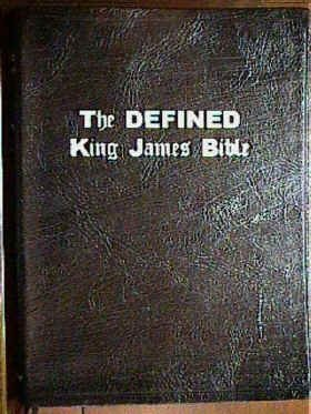 The Defined King James Bible (Genuine Leather, 10 point Medium Print)