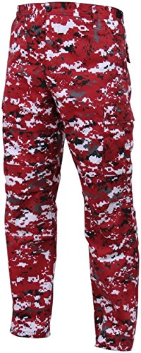 Red Camouflage Bdu Pants - Bellawjace Clothing Red Digital Camouflage Military BDU Cargo Bottoms Trouser Camo Pants