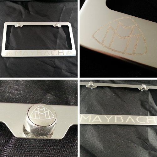 polish-chrome-laser-engraved-maybach-stainless-steel-usa-license-plate-frame-with-engraved-steel-log