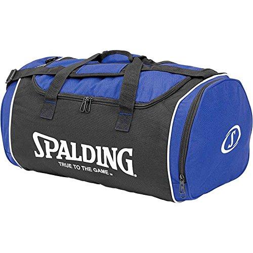 Spalding Tasche Sporttasche M royal blau/schwarz 53 x 35 x 31 cm mit Aufdruck Name