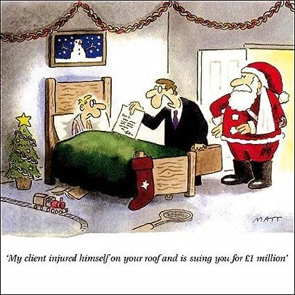 Injury Lawyer Telegraph Matt Cartoon Christmas Card Amazon Co Uk