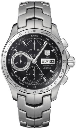 Authentic New Tag Heuer Link - TAG Heuer Men's CJF211A.BA0594 Link Automatic Chronograph Day-Date Watch