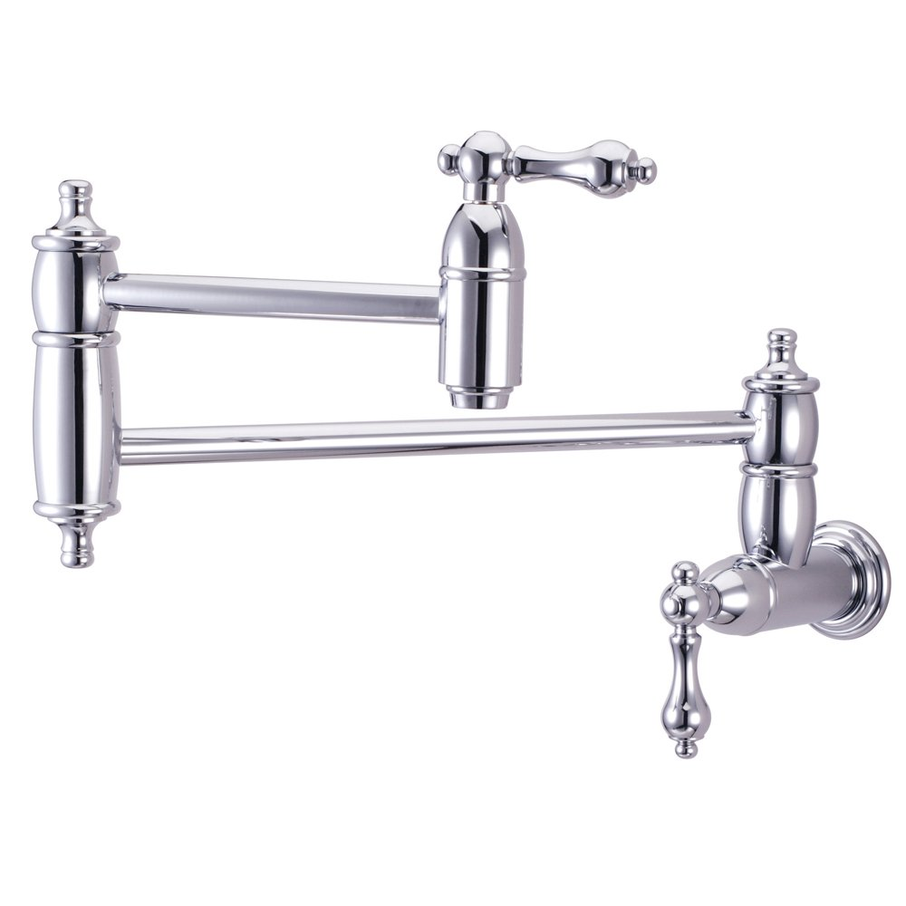Nuvo ES3101AL Elements of Design Pot Filler 2-Handle Wall Mount Pot Filler, 13 , Polished Chrome