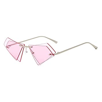WANGKEAI Gafas De Sol Únicas Sin Marco Triángulo Pequeño ...