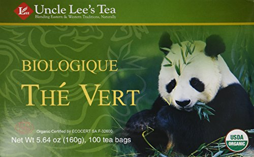 Uncle Lee's Organic Green Tea -- 100 Tea Bags net wt 5.64 oz (160g) - (Pack of 2)