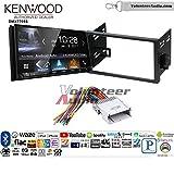 Volunteer Audio Kenwood DMX7705S Double Din Radio Install Kit with Apple CarPlay Android Auto Bluetooth Fits 2007-2011 Chevrolet Aveo