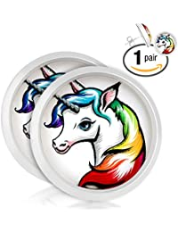 Unicorn Round Stud Earrings 10MM, For Unicorn Themed Birthday Party's and Favors - Perfect Gift for Unicorn Lovers