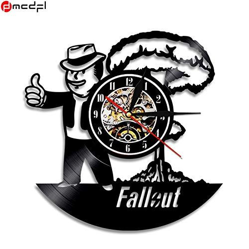 OLILEIO Fallout Theme Vinilo Negro Reloj de Pared 3D Etiqueta de ...