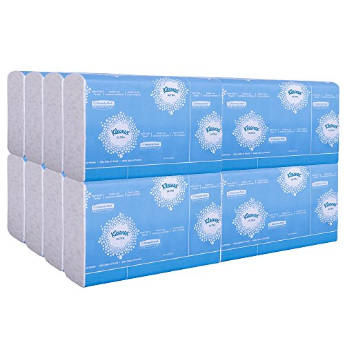 Kleenex Ultra Soft Multifold Paper Towels (43752), White, 2-Ply 16 Packs / Case, 150 Tri Fold Paper Towels / Pack, 2,400 Towels / Case by Kleenex (Image #1)