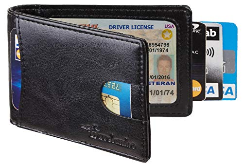 Travelambo Top Grain Leather Slim Wallet
