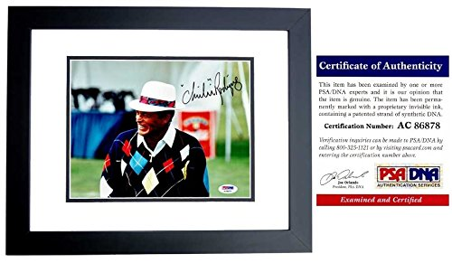 Chi Chi Rodriguez Signed - Autographed Golf 8x10 inch Photo BLACK CUSTOM FRAME - PSA/DNA Certificate of Authenticity (COA)