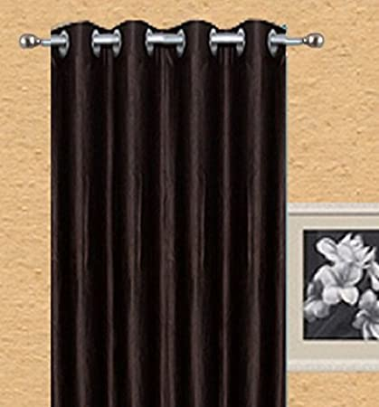 Buy Parth Polyester Blend Gewar Patti 5x4 Ft Window Curtains Golden