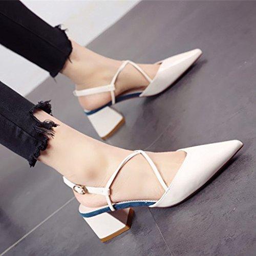 de señaló zapatos sola personalidad zapato vendaje mujer personalidad sola La la 8bf1e5