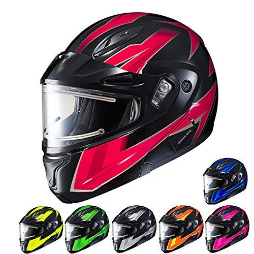 HJC CL-MAX2SN Ridge Run Modular Snow Helmet Framed Electric Shield (MC-8 Neon Pink, X-Large) ()