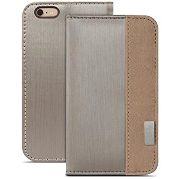 finest selection c59e7 a7fa2 Moshi Overture Wallet Case for iPhone 6 - Titane