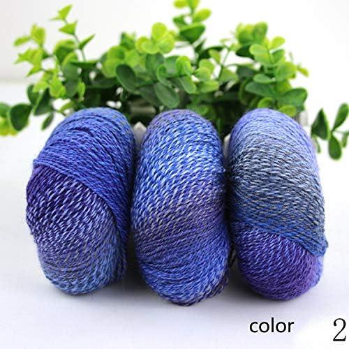 耐久性 毛糸 編み糸 ロング染色 グラジエント マニュアル 織る スカーフ糸 1玉約50g 10玉セット 多色選択可 快適な (Color : Col 23, UnitCount : 10 balls)