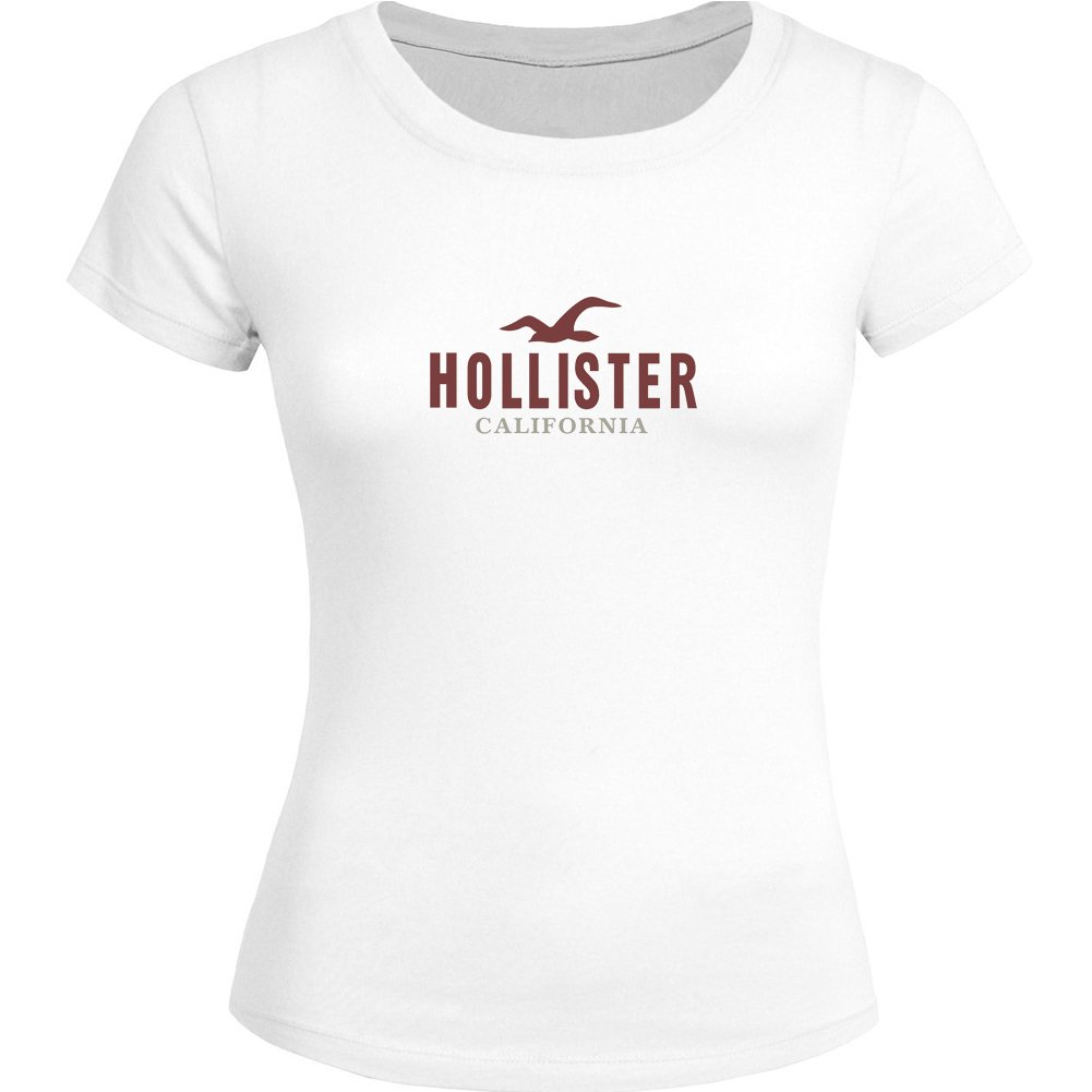 DIY Hollister Tops T shirts - Camiseta - para Mujer Blanco Blanco X-Large: Amazon.es: Ropa y accesorios
