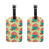 LEISISI Strawberry Shortcake Cupcake Pattern Travel Luggage Tags Suitcase Labels Pack of 2
