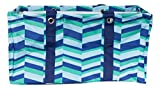 Wireframe All Purpose Large Utility Bag (Blue and Green Zig Zag)