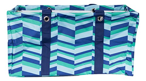 Wireframe All Purpose Large Utility Bag (Blue and Green Zig Zag) by AFI